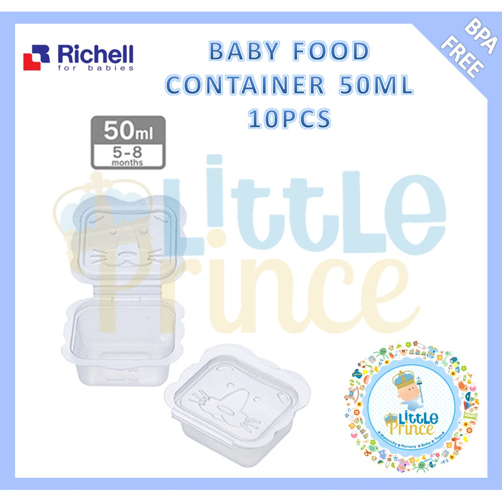 Jual Murah Richell Baby Food Freezer Tray 50ml Terbaru 2018 Manzone Medline Navy Mznmzy18 01spmiow053na Xs Biru Muda M Container 150ml Isi 6 Pcs Tempat Makanan Shopee Indonesia