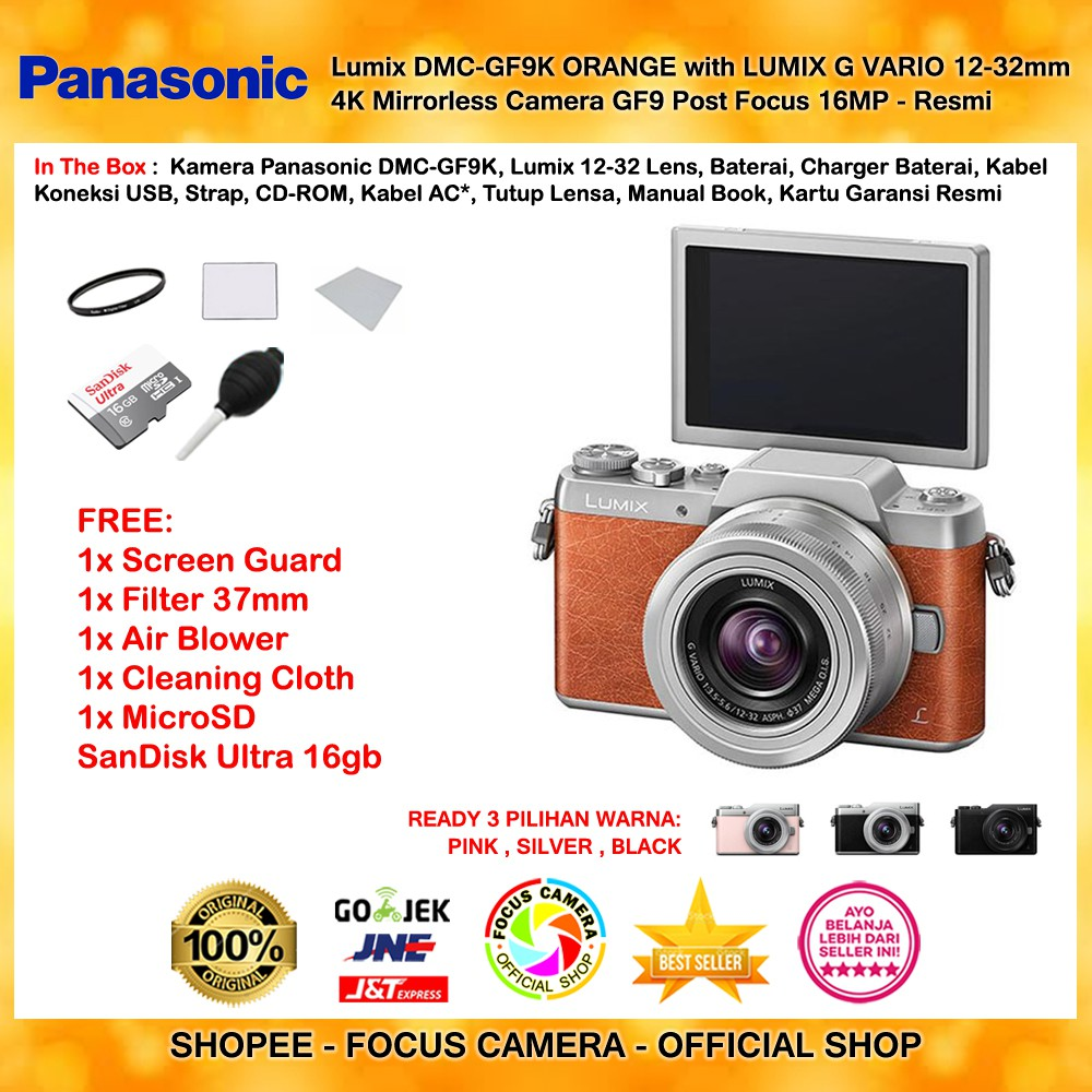 Harga Dan Spesifikasi Panasonic Lumix Dc Gf9 Kit 12 32mm Free Orange G Vario F 35 56 Dmc Gf8k Brown With Mirrorless