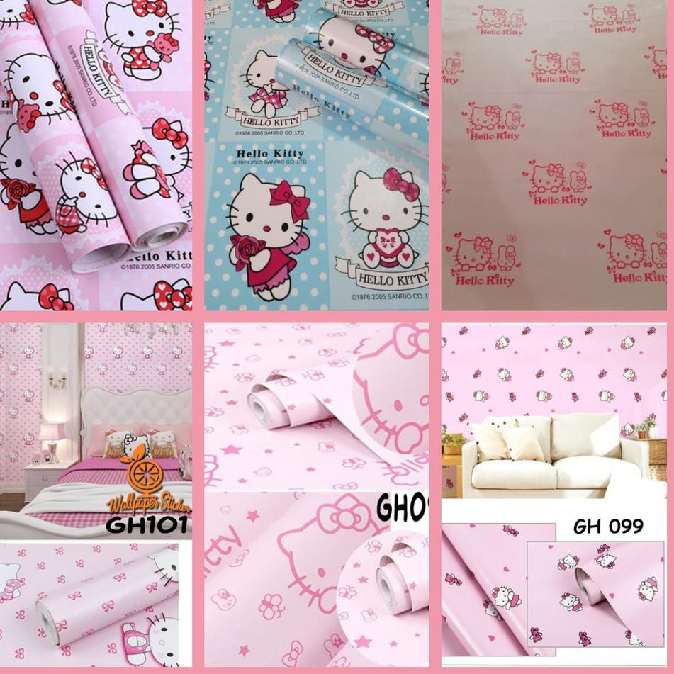 Harga Spesial Cod Termurah Wallpaper Dinding Sticker Hello Kitty Line Walpaper Stiker Motif Hello Shopee Indonesia