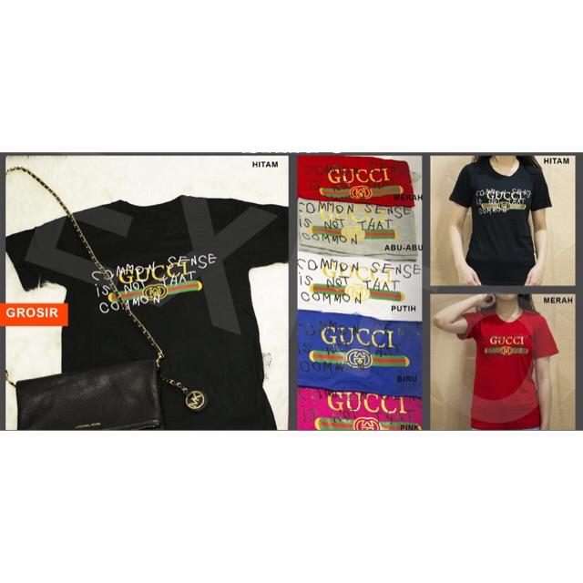 ab9ce9a3 BL.KAOS GUCCI GQ   Shopee Indonesia