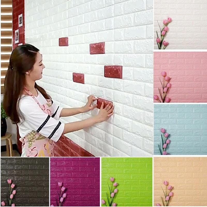 Bayar Di Tempat]NL Stiker Dinding PVC Motif Bunga Teratai Untuk