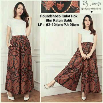 DISKON Celana Kulot Klok Panjang Batik Bawahan C46C47C48 | Shopee Indonesia