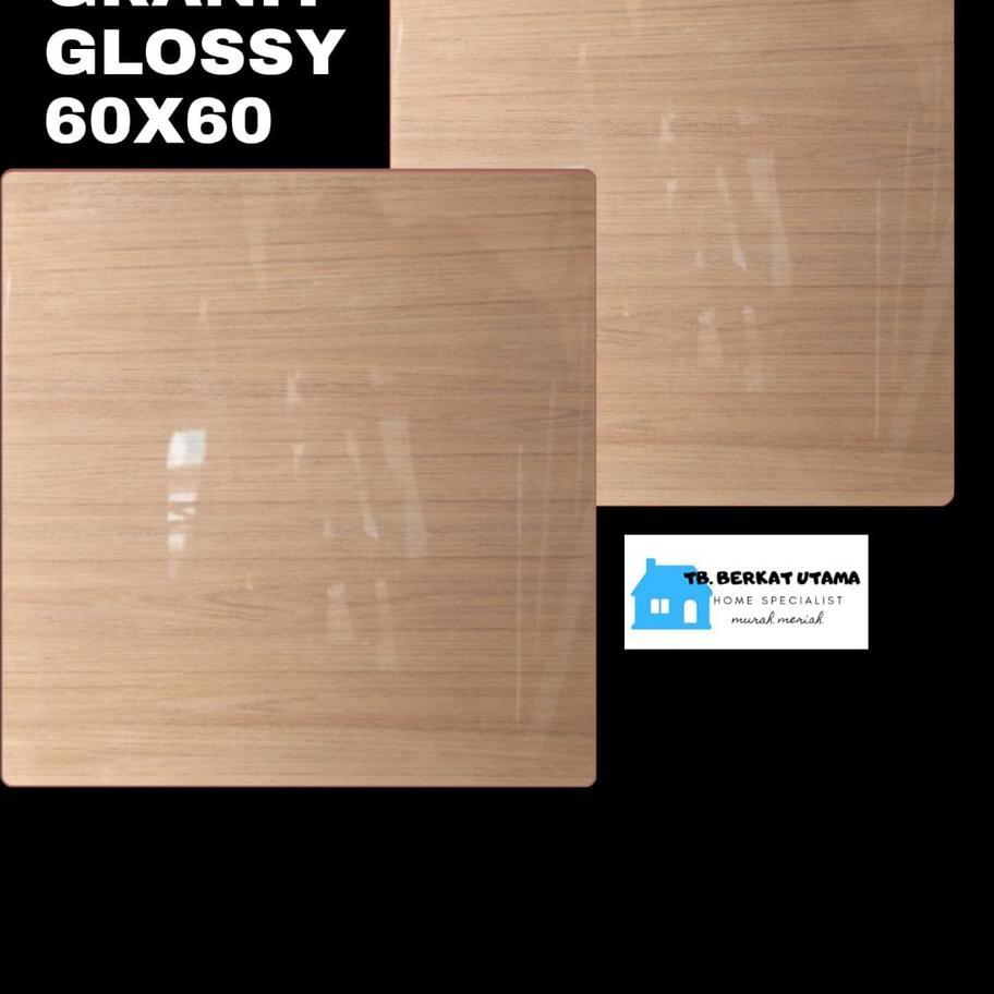Diskon* GRANIT GLOSSY 60X60 MOTIF KAYU WOOD HABITAT - GRANIT LANTAI , GRANIT DINDING, GRANIT KAMAR M