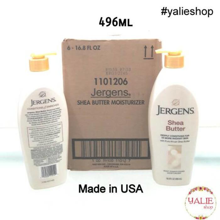 TERBARU - JERGENS SHEA BUTTER ASLI 496ML (MADE IN USA) (ASLI IMPORT) | Shopee Indonesia