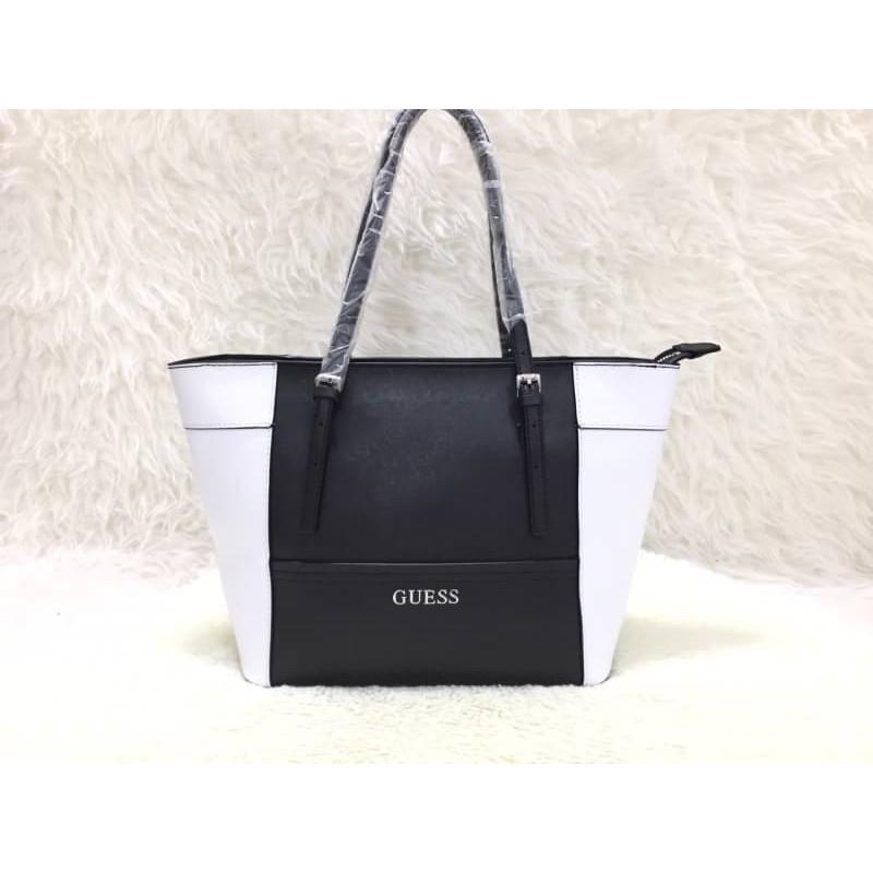35ff1df16e Tas Import Wanita ORIGINAL GUESS DELANEY - BLACK   WHITE