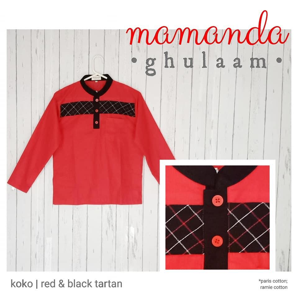 Koko Remaja/Dewasa Red&Black Tartan by Mamanda