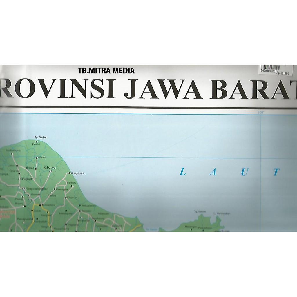 PETA PROVINSI JAWA BARAT DAN BANTEN (BINGKAI) - KJDLLF | Shopee Indonesia