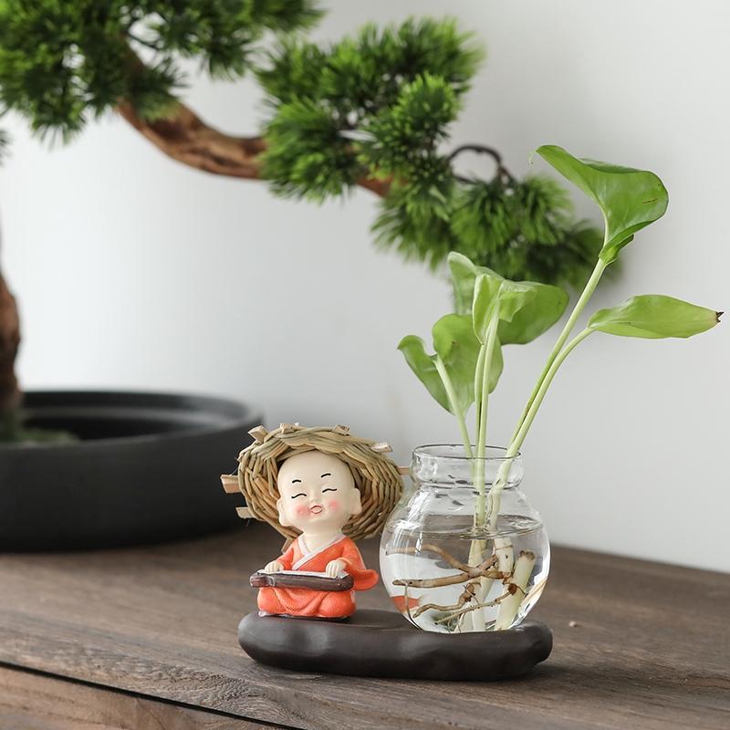 Dill Hijau Kapal Hidroponik Kaya Vas Bambu Bunga Kaca Pot Air Tanaman Bunga Transparan Hidup Kreatif Shopee Indonesia