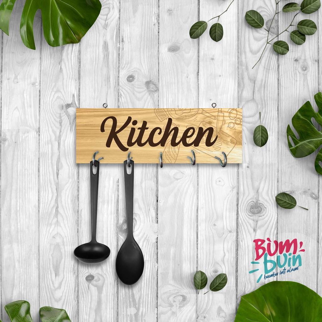 Gantungan dapur kapstok serbaguna kitchen minimalis rak dapur mdf 4 cm  jogja