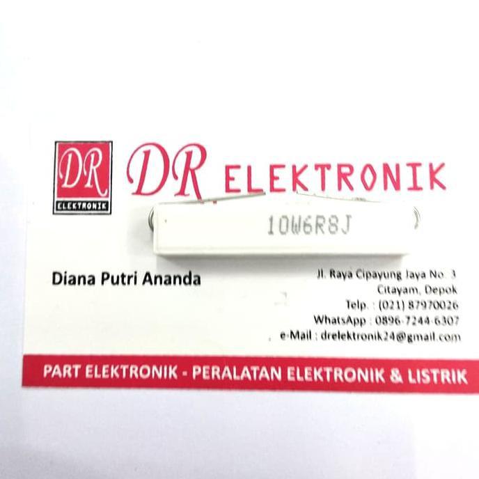 Resistor Tahanan 10W 6,8 Ohm 6,8Ohm 10Watt 10 Watt Ohm 6,8Ohm 10W6R8J Drelek90 Dijamin