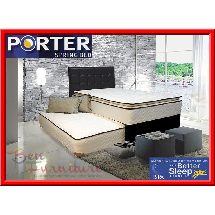 Kasur Porter Spring Bed LINEA, Pillow Top Bonnel FULLSET 180x200 | Shopee Indonesia