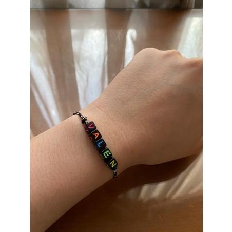[IND Shop BB 16Ju5Ak] [CUSTOM] gelang dan kalung tali nama / gelang couple / gelang persahabatan han