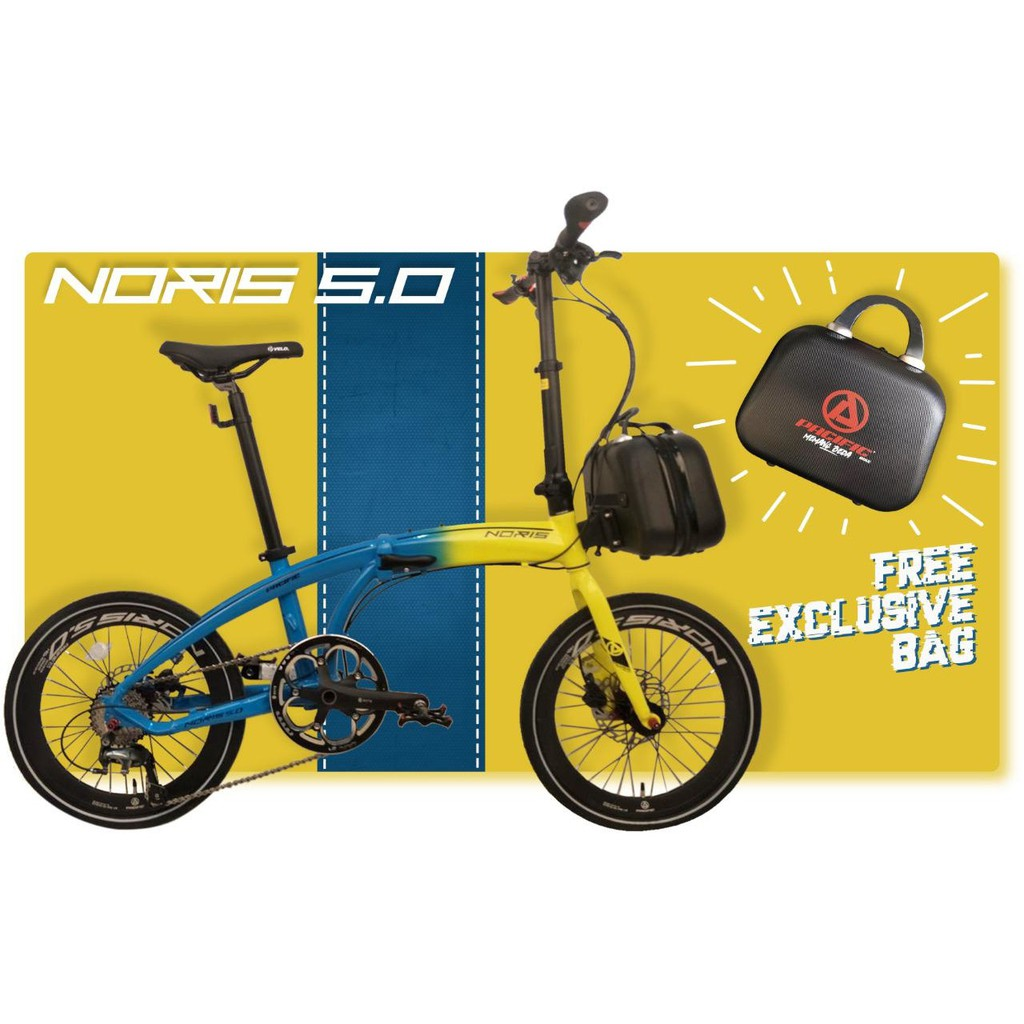 Sepeda Lipat Pacific Noris 5.0 20 Inci Alloy 6061 1x10Sp