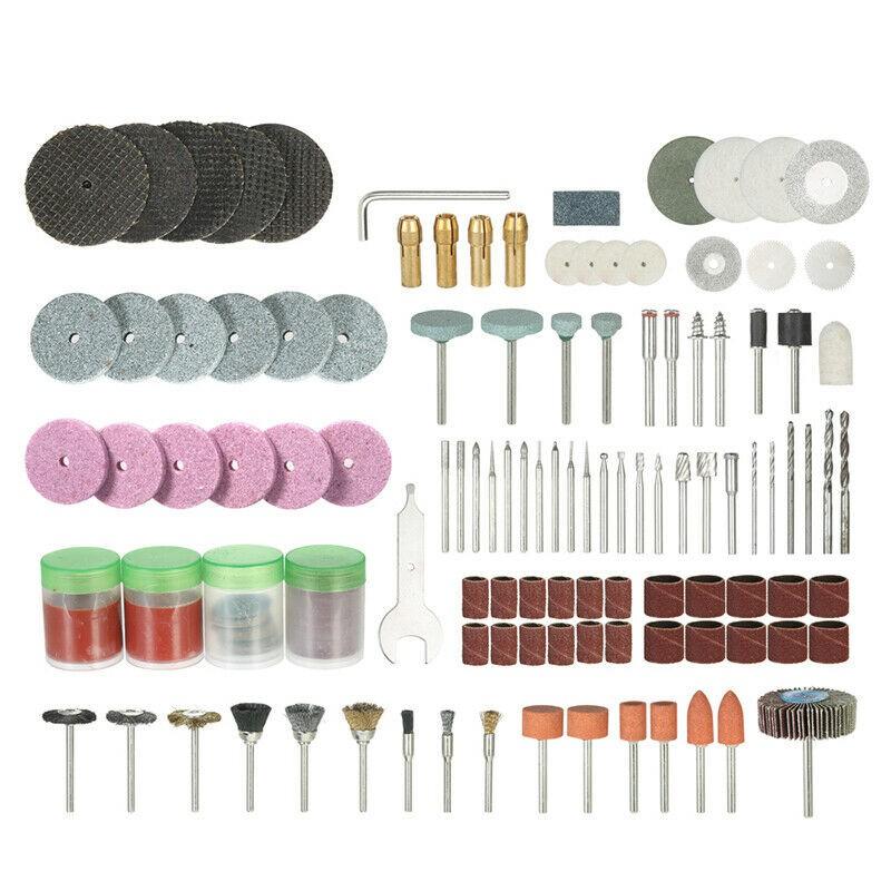 "166Pcs Rotary Tool 1//8/"" Polishing Wheel Drill Accessory Set For Grinding Sanding"