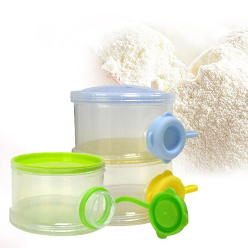 Baby Milk Powder Formula Dispenser Food Container Storage Feeding Pink Box