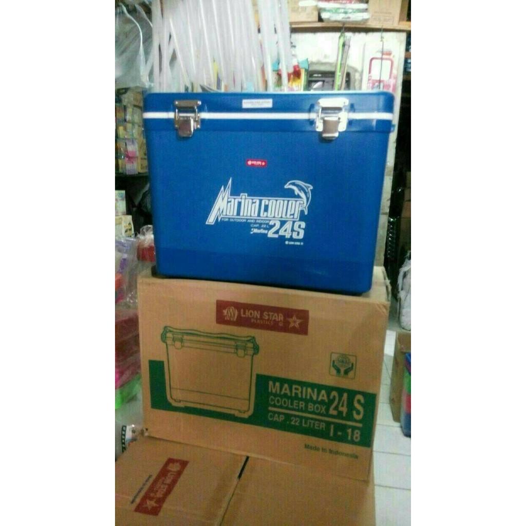 Wadah Es Tempat Kotak Pendingin Marina Cooler Box 6s Cap 55 Sabun Kamar Mandi Portable Praktis Ada Tutup Hbh065 Liter Merk Lion Star Shopee Indonesia