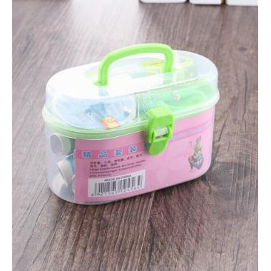 PROMO MURAH Sewing kit box Kotak peralatan menjahit benang jarum meteran - HPR095 Good Quality |