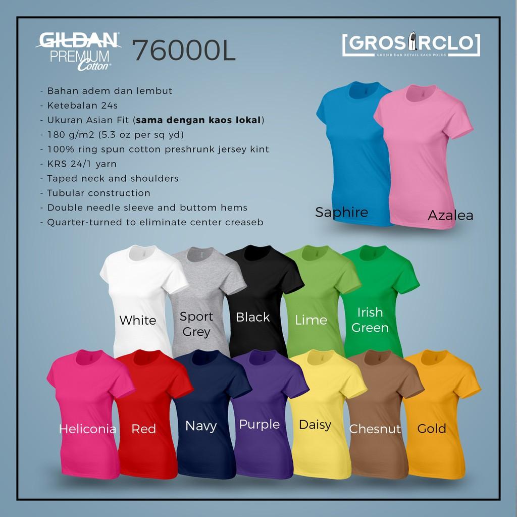 Gildan Softstyle 63v00l Kaos Polos V Neck Ladies Original Red Size Xxl 63000  Jakarta Exlusive Cewek Import Murah Shopee Indonesia
