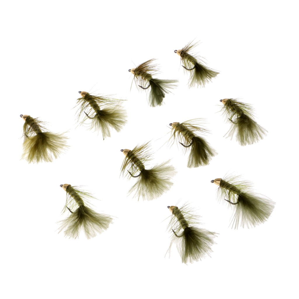 Bass Trout 6 x Beadhead Woolly Bugger Fly Fishing Streamer Flies For Salmon