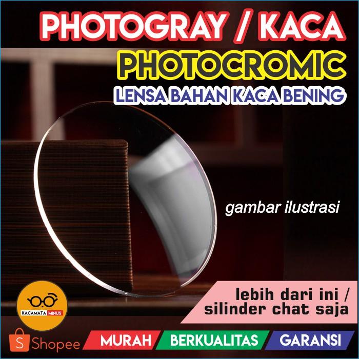 Biaya Penambahan Lensa Photocromic Photogrey Minus Plus Berubah Warna Hitam  Otomatis - Kacamata  8f62e66379