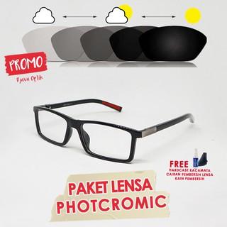 512 Kacamata Photogrey Lensa Minus Baca Berubah Warna