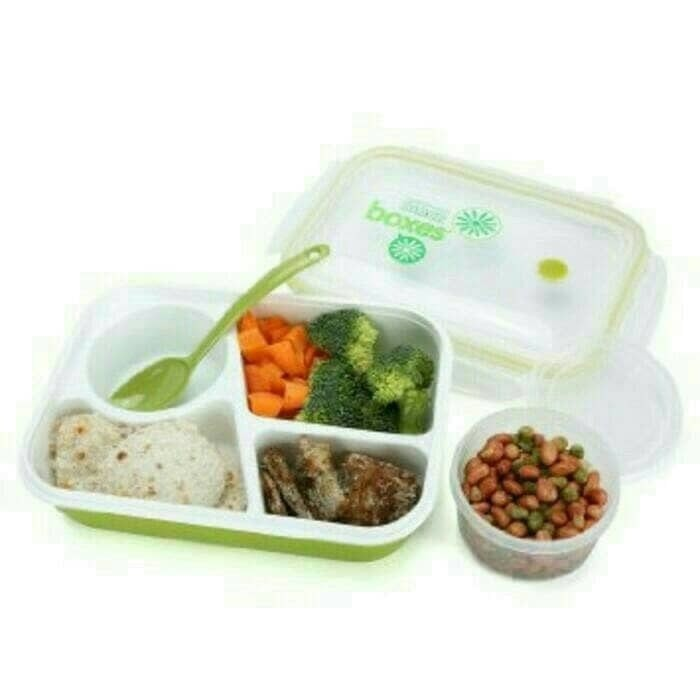 Dot Design Thermal Lunch Box Leak-proof Stainless Steel Bento Box Container | Shopee Indonesia