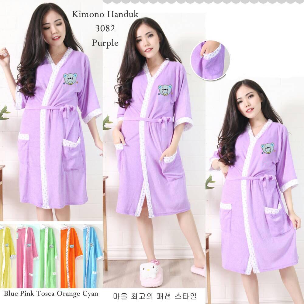 2 warna Kimono Bludru Bulu Cow 2in1   Kimono handuk wanita   kimono mandi  bulu  9e0b4a4622