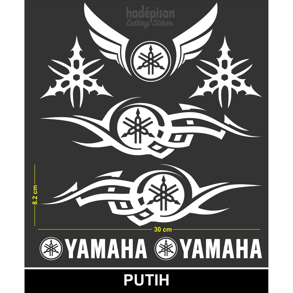 Stiker motor cutting sticker body motor yamaha tribal shopee indonesia