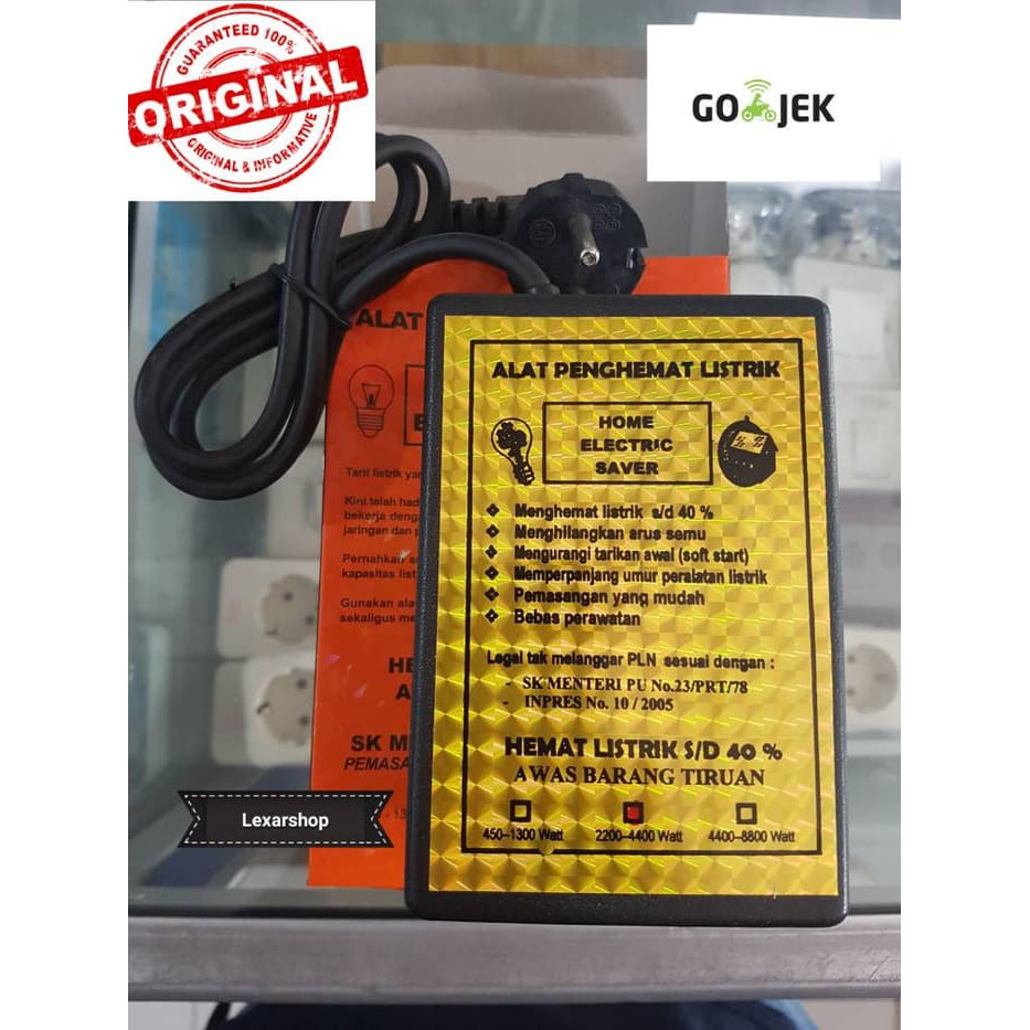 Penghemat listrik home electric saver type A 450-1300 watt | Shopee Indonesia