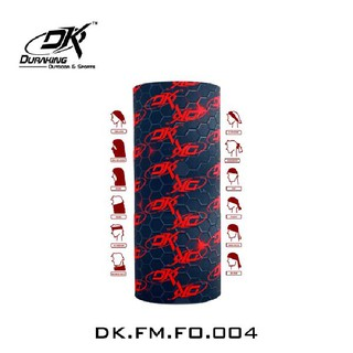 DK Mulitifunctional Headwear Carbon Abs  Black Red