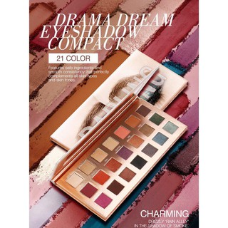 O.TWO.O 21 Color DARLING Drama Dream Eyeshadow Compact Palette With Mirror Kaca 7