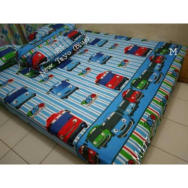 Sprei cars world biru / cars lucu / seprei anak / bedcover cars | Shopee Indonesia
