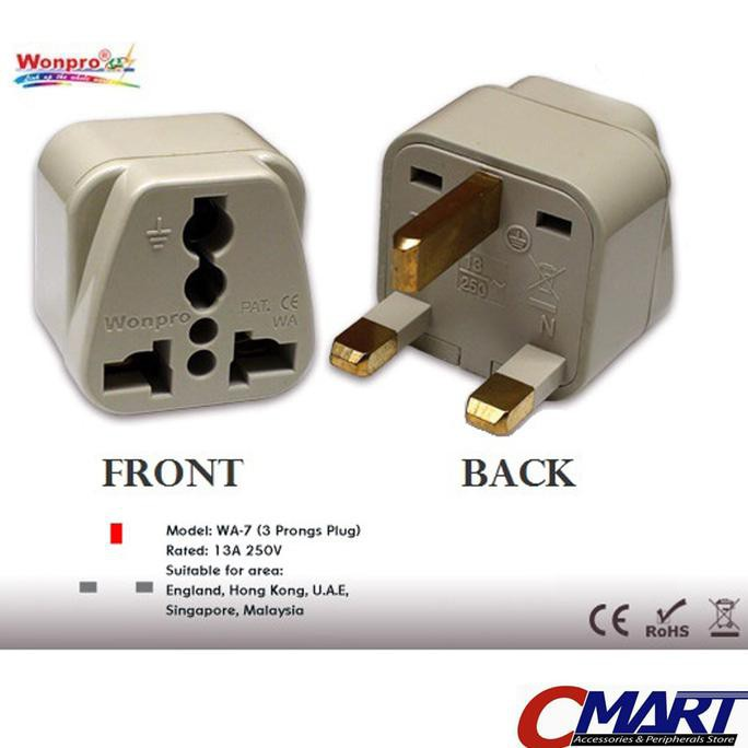 Good Quality Colokan Steker Kaki 3 listrik ke Universal Travel Adapter ACC-WP-WA