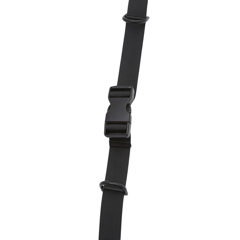 Adjustable Backpack Sack Bag Webbing Sternum Buckle Clip Strap Chest Black
