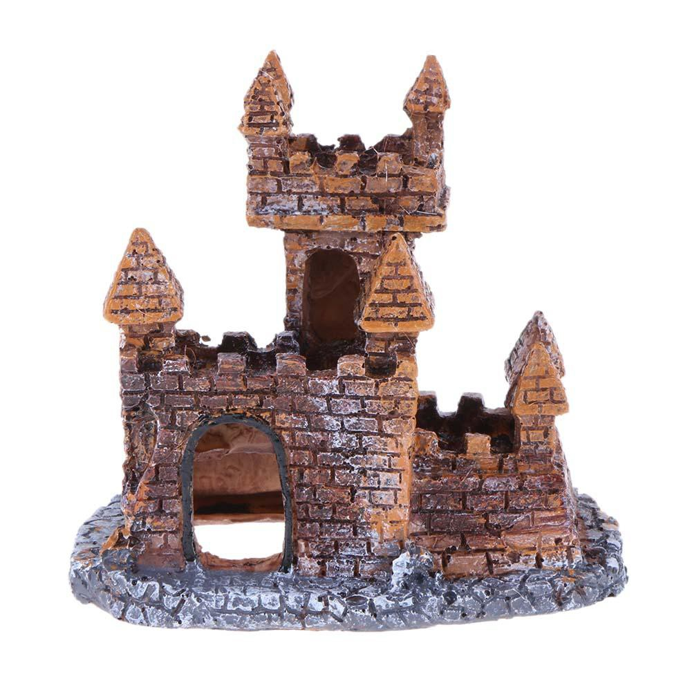 Ready Home Decor Aquarium Decoration Resin Castle Landscaping For Fish Tank Cave Ornaments Shopee Indonesia