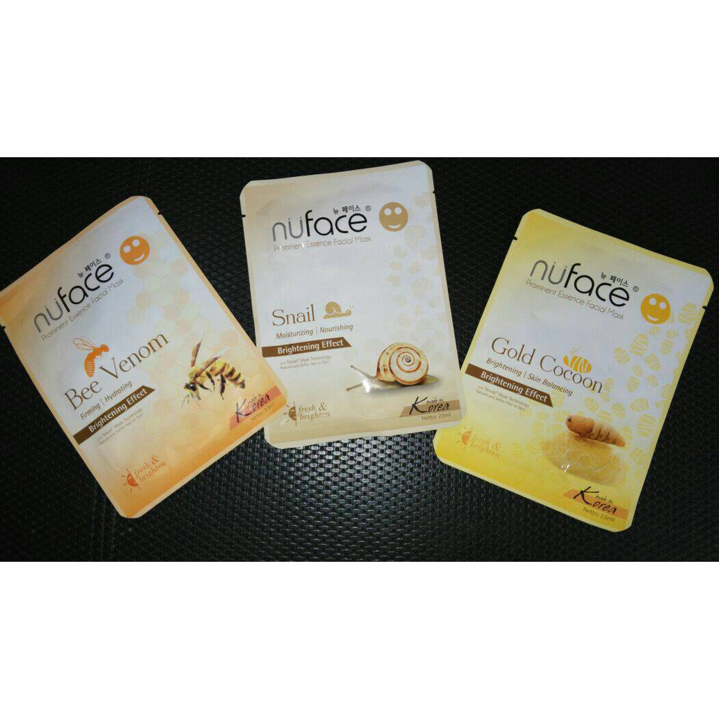Nuface Prominent Essence Facial Mask Gold Cocoon Shopee Indonesia