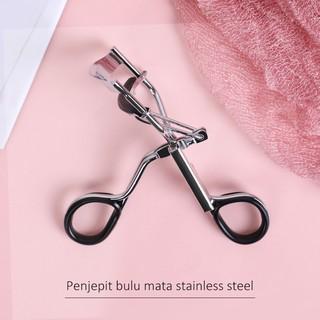 Penjepit Bulu Mata Stainless Steel dengan Bantalan Eyelash Curler Pelentik Bulu Mata thumbnail