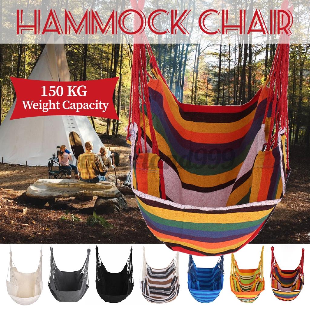 Wl Heavy Duty Hammock Chair Outdoor Swing Garden Hanging Chair Travel Camping Hammock Patio Furniture Shopee Indonesia