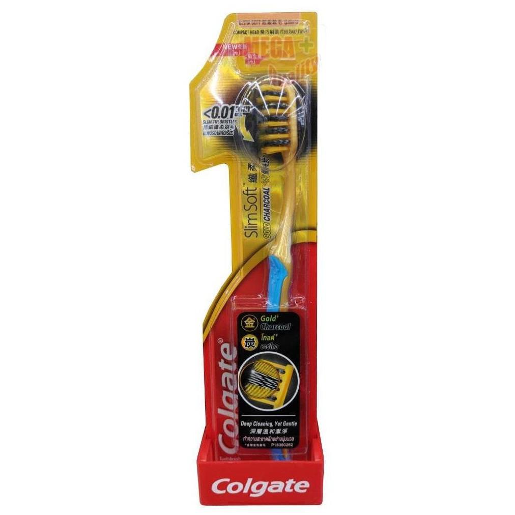 Colgate Slimsoft Charcoal Toothbrush Sikat Gigi + Total Charcoal Paste  Toothpaste Pasta Gigi 150gr 7e6cff7772