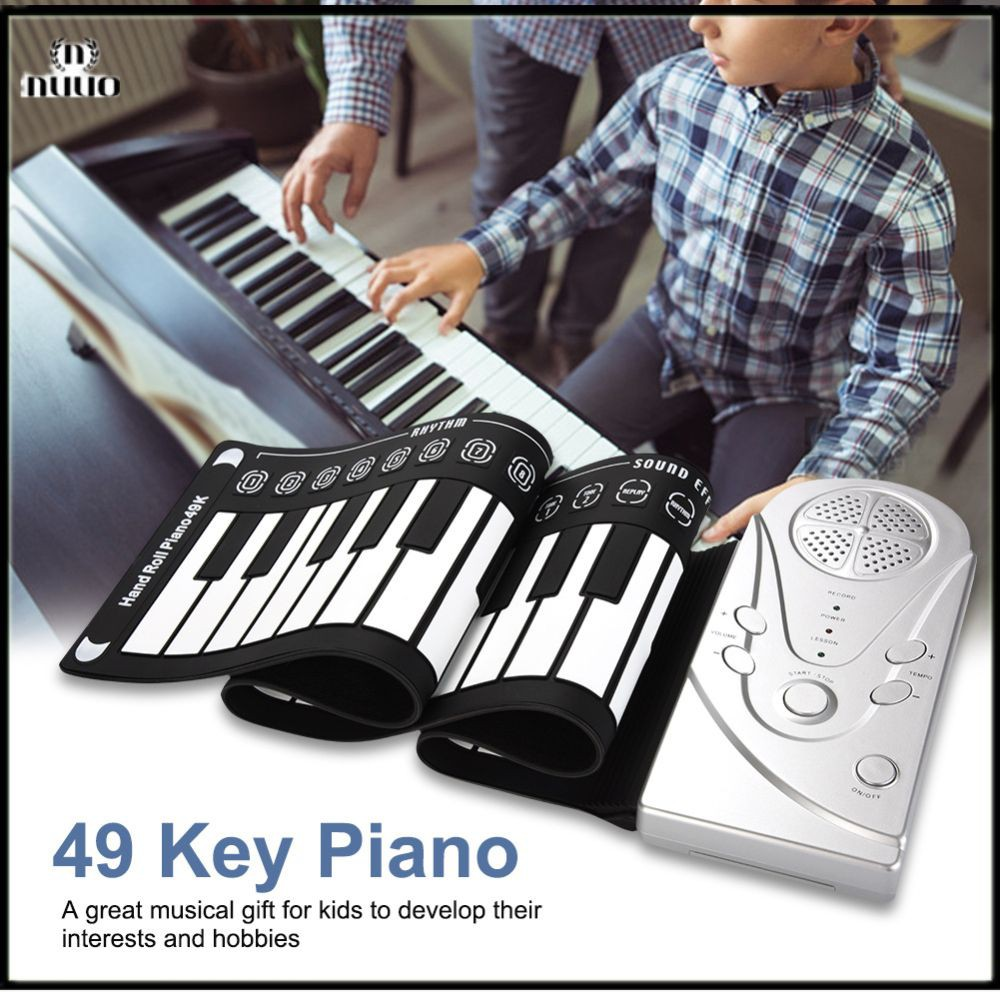 Piano Keyboard Gulung Elektronik Portable 49 Kunci Bahan Silikon Fleksibel Nuuo Shopee Indonesia