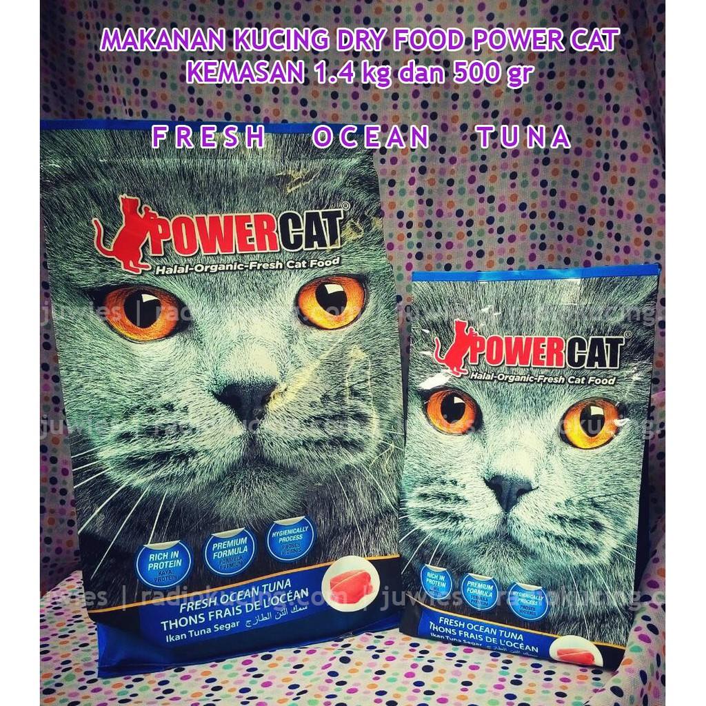 Dry Food Power Cat Fresh Tuna 1 4 Kg Freshpack Biru Shopee Indonesia