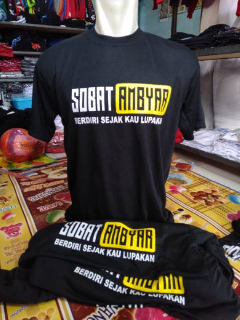 Kaos Sobat Ambyar Viral Murah Dewasa Shopee Indonesia