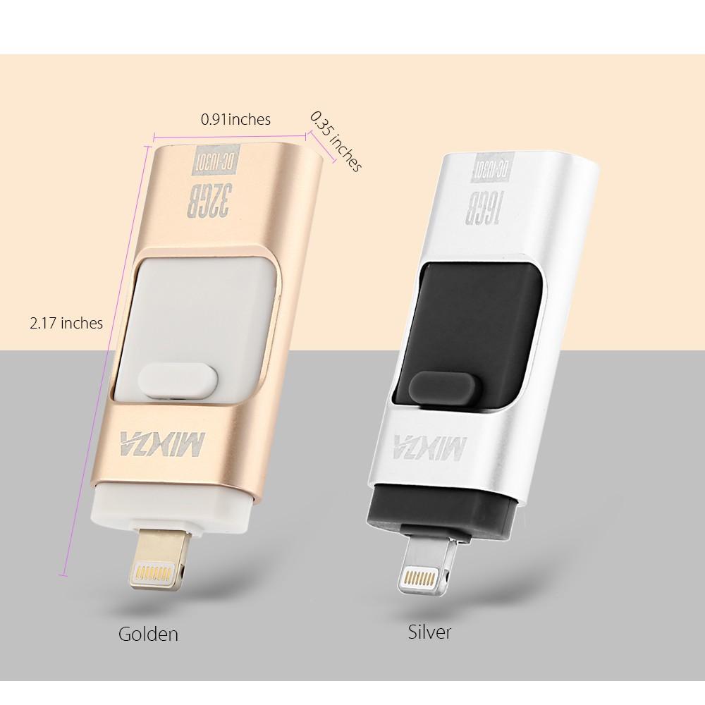 Mixza Dc Iu301 3in1 8pin Usb 20 Flash Drive Disk Shopee Flashdisk Addlink Otg Dual 32gb Swivel Black Indonesia