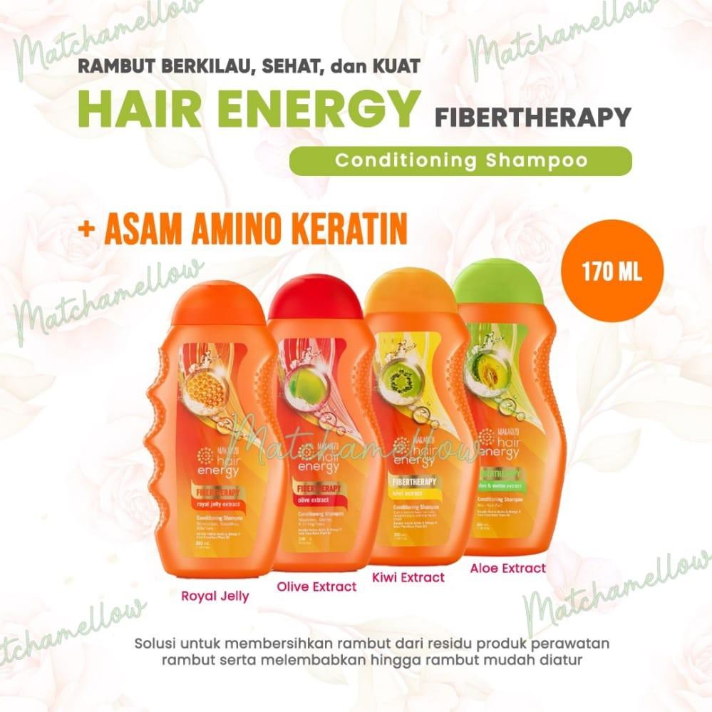 ❄️MATCHA❄️MAKARIZO HAIR ENERGY FIBERTHERAPY CONDI SHAMPOO 170 320 ML SAMPO PEMBERSIH RAMBUT 2IN1-2