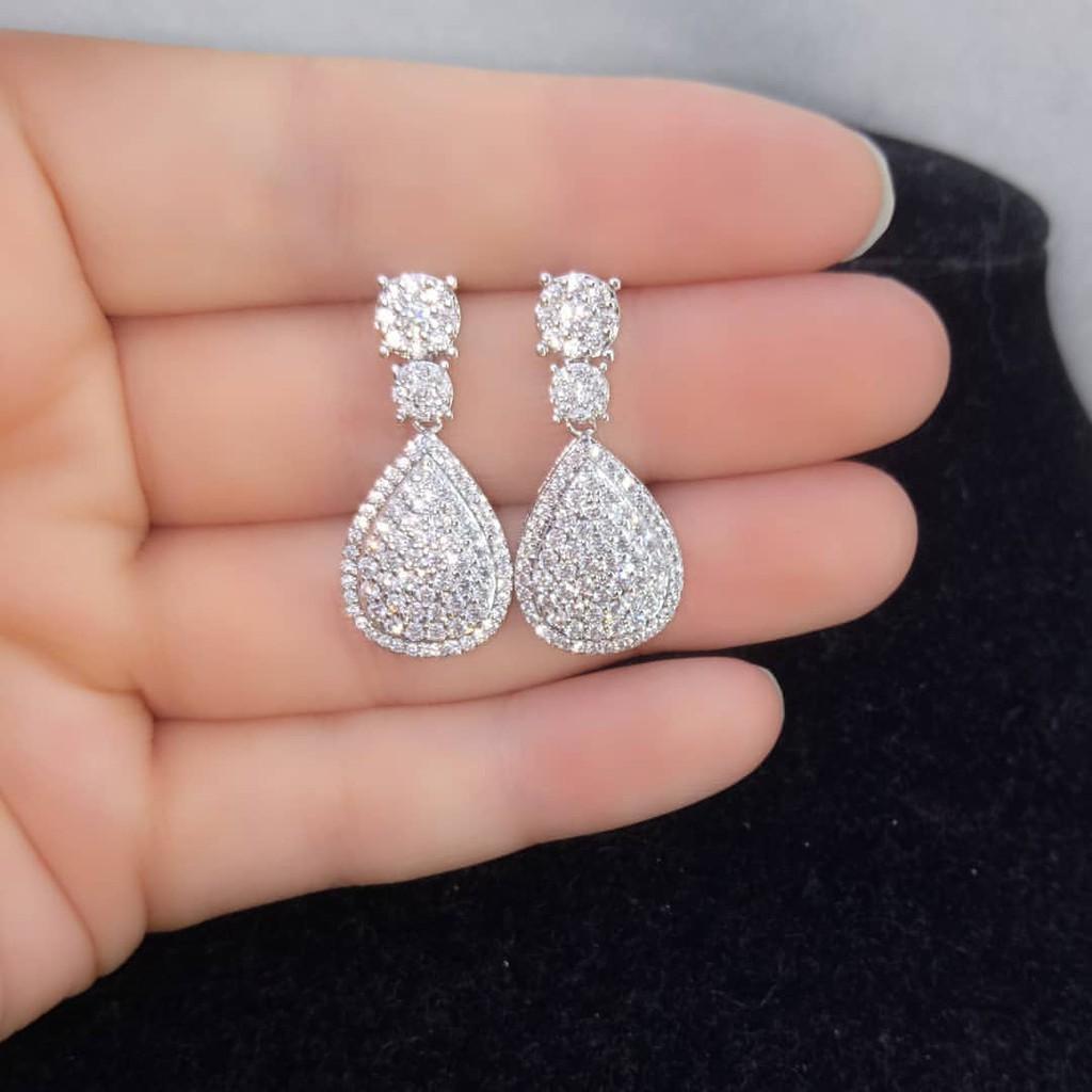 Anting Titanium Silver Diamond Xuping Persis ASLI ...