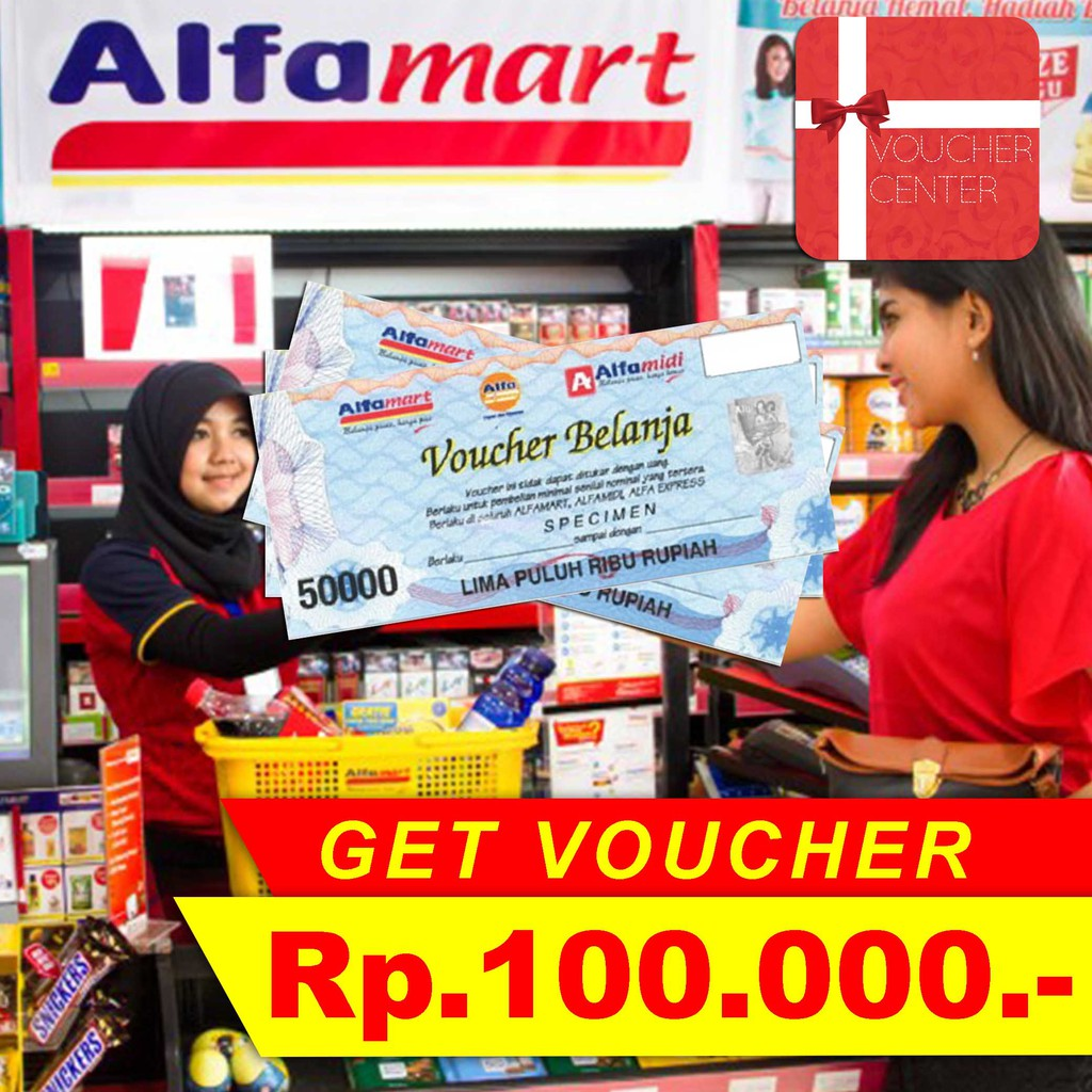 Voucher Alfamart 100000 Shopee Indonesia Indomaret Gift Card 100 Rb