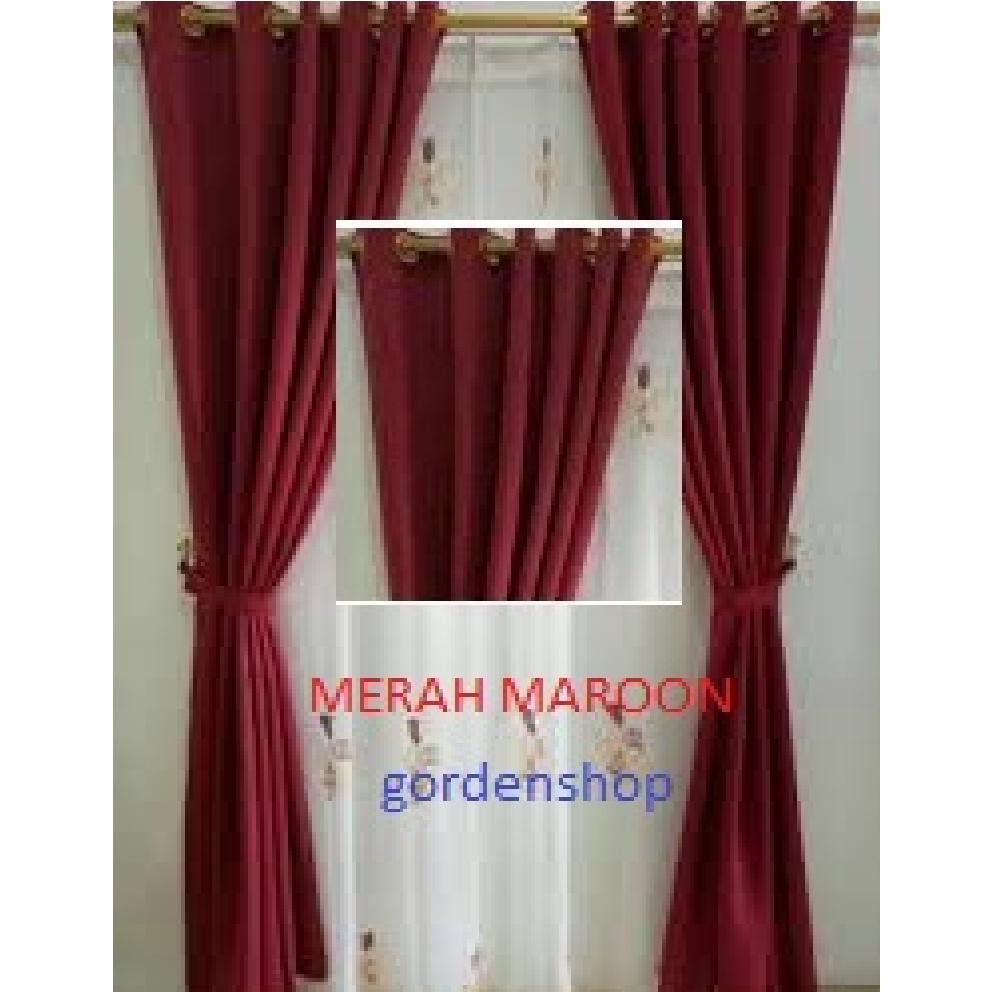 Gorden Blackout Minimalis Polos Motif Embos Shopee Indonesia
