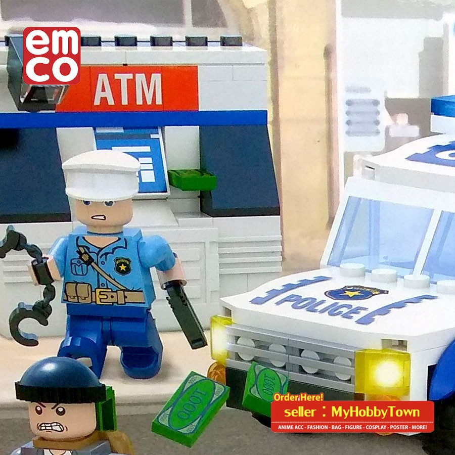 Lego City Polisi Militer Tentara Polis Police Helikopter Isi 216pcs