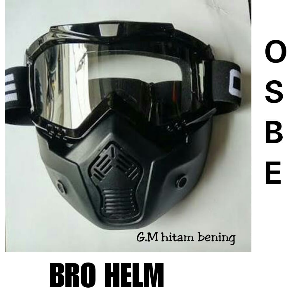 Kacamata Goggle Osbe Alien Mask Modular Clear Google Masker Topeng Paint Ball Air Soft Gun Helm  Bening Shopee Indonesia