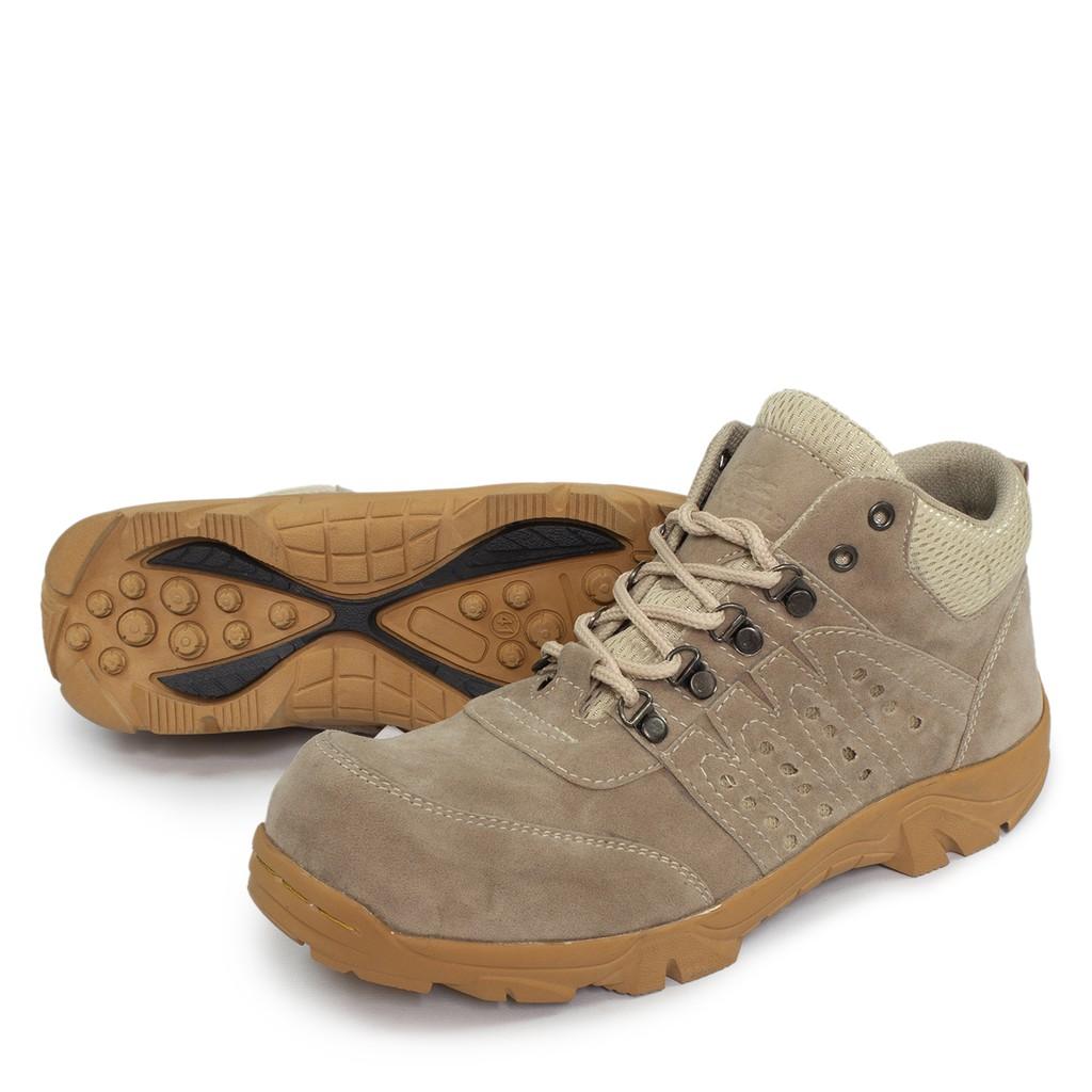 Sepatu Boots Pria Sauqi indicator Sepatu Boots Safety Zipper Delta Ujung Besi Kerja Proyek Lapangan |